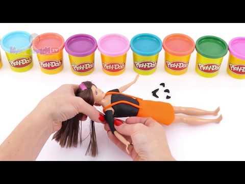 Куклы Барби Кен и Скиппер Хэллоуин Костюмы из пластилина Плей До Мультик из игрушек - Серия 119