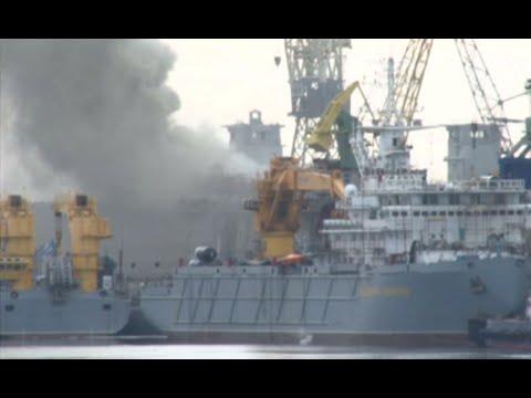 Russian nuclear submarine ablaze at shipyard in Severodvinsk