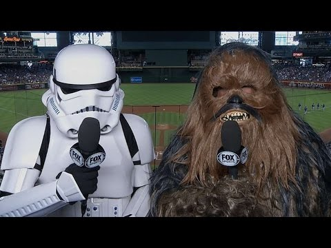 D-backs' announcers wear Star Wars costumes