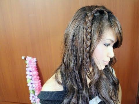 Easy Bohemian Braids & Waves Hairstyle Hair Tutorial