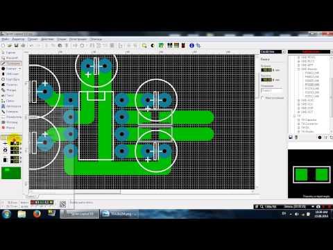 Видео как нарисовать плату