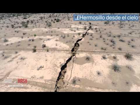 ENORME GRIETA APARECE EN HERMOSILLO, MÉXICO 21 DE AGOSTO 2014