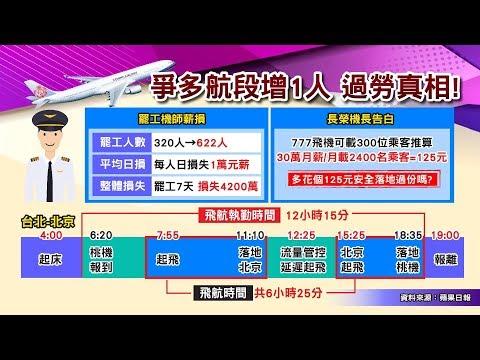 台灣-國民大會-20190215 疲勞飛行如酒駕? 機師罷工1週少賺4千萬 地獄航班真相?