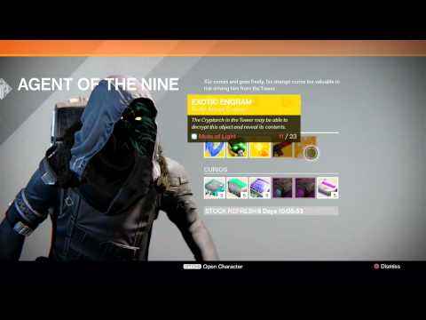 Destiny-where To Buy Exotic Weapons And Armour video