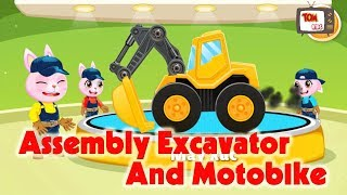 Assembly Excavator & Assembly Motobike | Game Excavator & Game motorbike for kid - Tom Kids TV