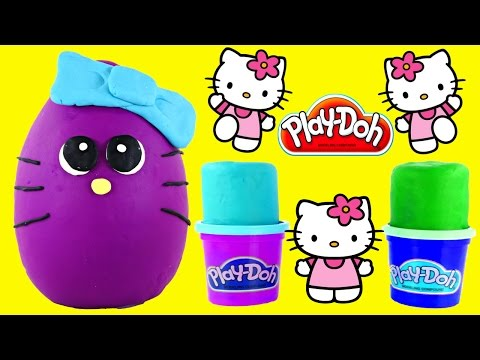 Big Play Doh Surprise Eggs Hello Kitty Fashems Shopkins Looking Hellokitty Playdough Egg By Dctc video