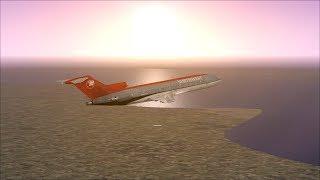 FSX SE Boeing 727   100 flight London Gatwick   Meiringen Switzerland