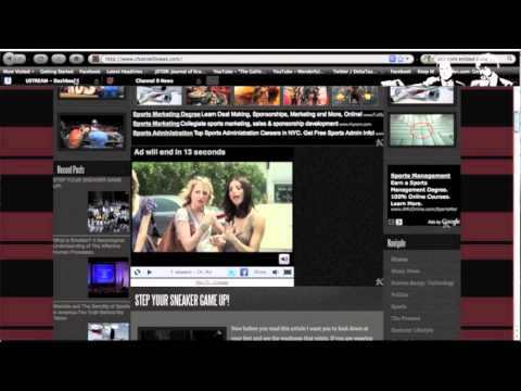 How to Broadcast and Stream Live Video on your website or blog Free using a Ustream webcast