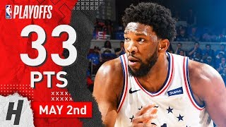 Joel Embiid Full ECSF Game 3 Highlights vs Raptors 2019 NBA Playoffs - 33 Points, 10 Reb, 5 Blocks!