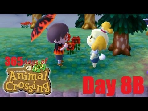 Lets Play Animal Crossing New Leaf Nintendo 3DS + 365 Days +  Day 8B Public Works Projects