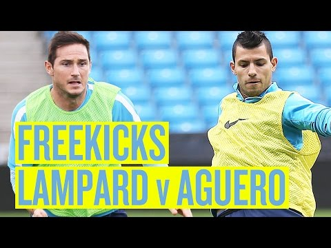 LAMPARD v AGUERO Training ground free kicks