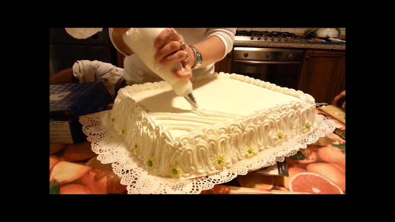 Torta chantilly per un diciottesimo compleanno youtube for Decorazioni per torta 60 anni