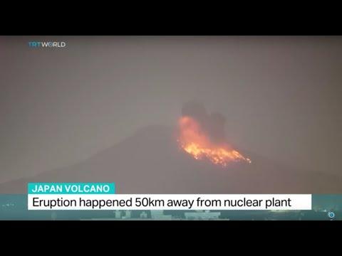 Japan's Sakurajima volcano erupts 50km away from nuclear plant