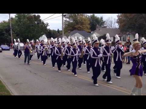 Berkshire High School Marching Band at the Woollybear Festival in Vermillion