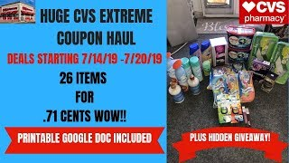 HUGE CVS EXTREME COUPON HAUL DEALS STARTING 7/14/19~26 ITEMS ONLY .71 CENTS 😍PLUS HIDDEN GIVEAWAY!