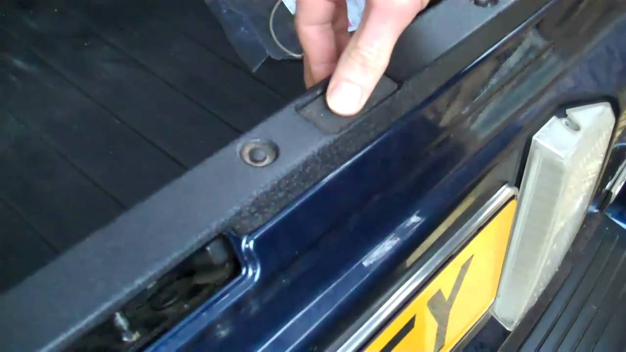 How To Upgrade Tailgate Release Switch Cover Range Rover