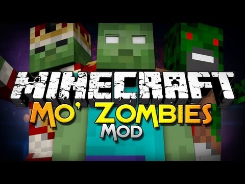 Minecraft Mod Showcase: Mo' Zombies Mod - 15 New Mobs!