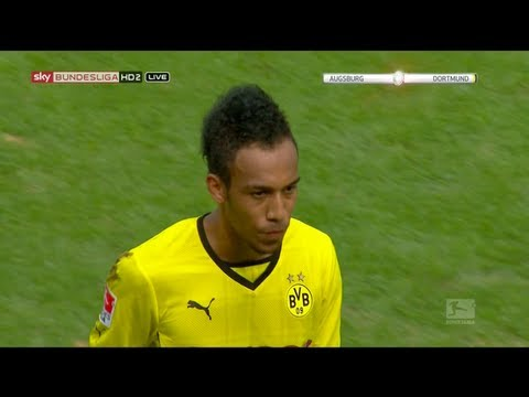 Pierre-Emerick Aubameyang vs Augsburg Away 13-14 720p HD