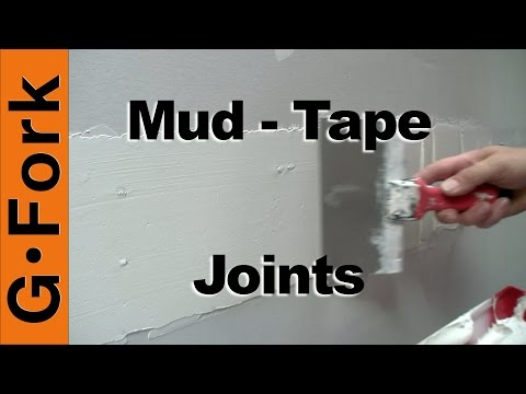 Mud and Tape Drywall Joints - GardenFork