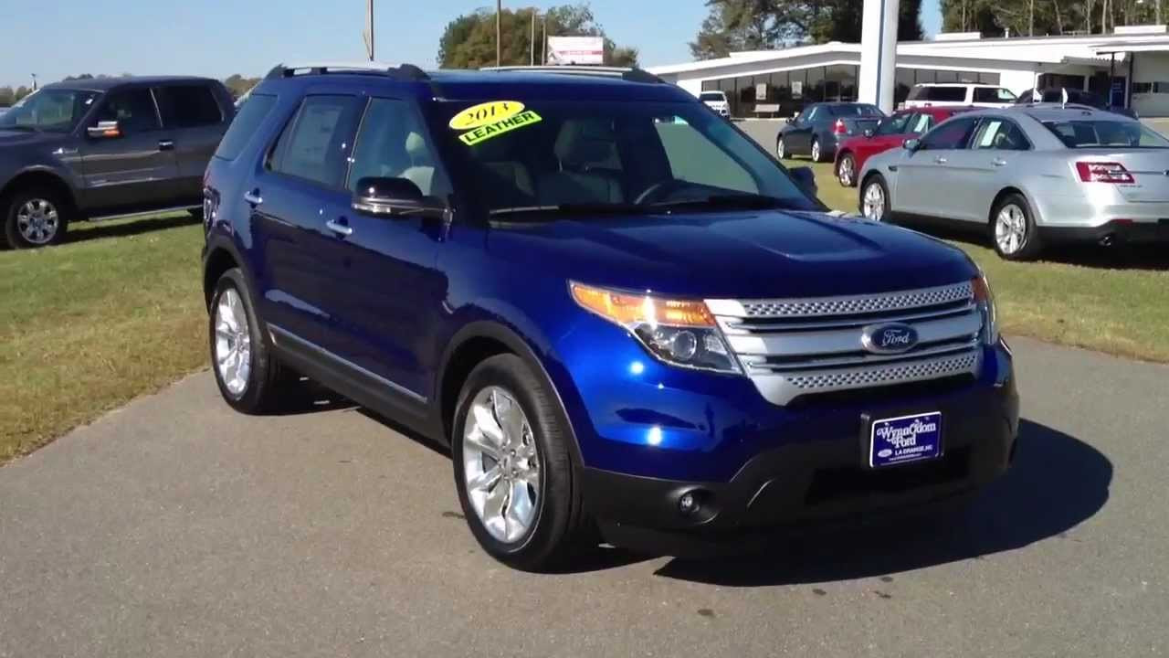 NEW 2013 Ford Explorer XLT Deep Impact Blue - YouTube