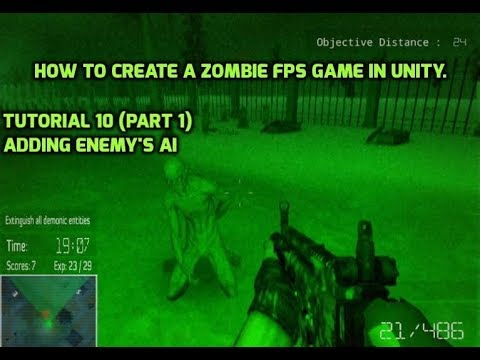 How to create a zombie FPS game in unity.Tutorial 10 Part 1  -Enemy's Ai {Unity3D}