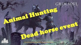 Grim Soul : Dark Fantasy Survival (Ep. 91) Hunting animals and finding a dead horse