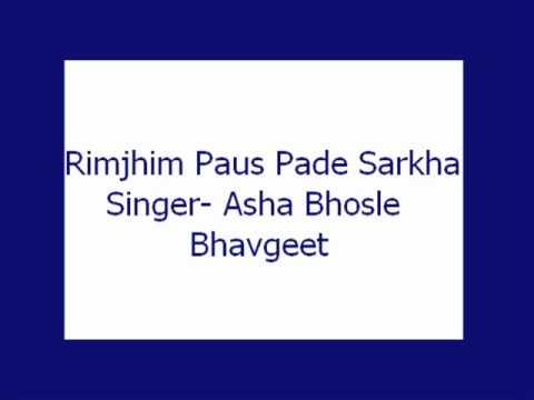 Rimjhim Paus Pade Sarkha- Asha (Bhavgeet)