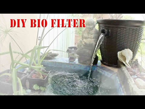 Diy aquarium bucket filter fish tank pond canister filter for Do it yourself fish pond