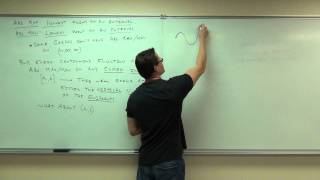 Calculus 1 Lecture 3.1:  Increasing/Decreasing and Concavity of Functions
