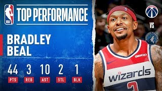 Bradley Beal records 44-PT Double-Double!