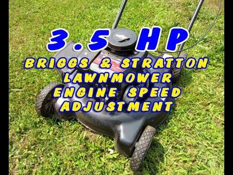 Briggs 3.5HP Lawnmower Engine Speed Adjustment