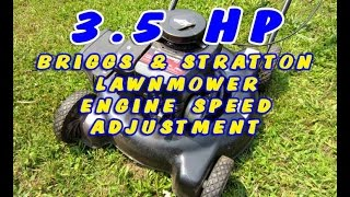 Briggs 3.5HP Lawnmower Engine Speed Adjustment