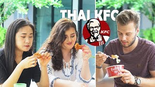Foreigners try Thai KFC