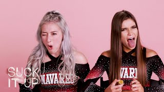 Netflix Cheer Stars Lexi & Morgan Spill All Their Navarro Secrets In This Sour Candy Game