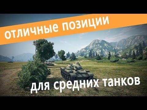 World Of Tanks позиции для средних танков 1