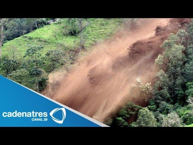 Impresionante!!! Intensas lluvias provocan AVALANCHA de tierra en China