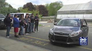 Marcotte Ford donates car to automobile students at Chicopee Comp. H.S.