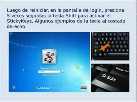 Restablecer la contraseña de Windows 7 sin programas