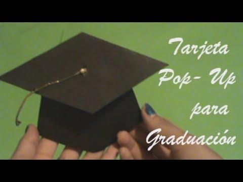 Tarjeta Pop-Up para graduacion