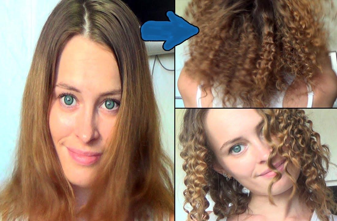 Как сделать мелкие кудри на волосах 417