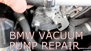 BMW N62 Vacuum Pump Oil Leak Repair - 650i 645i 750i 745i