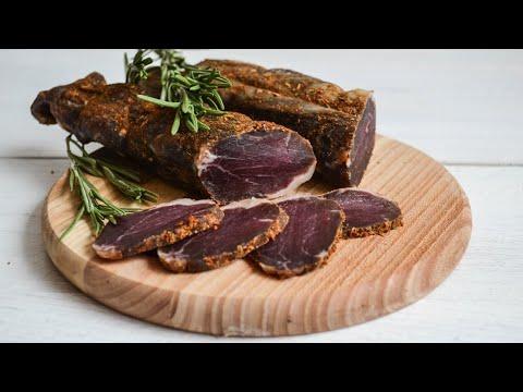 Бастурма из свинины — видео рецепт
