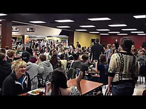 Les Miserables Flash Mob - Belmont University cafeteria 2/6/2013