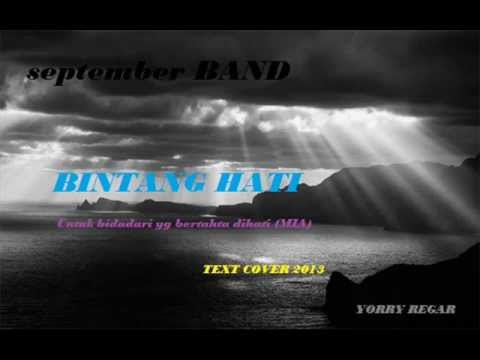 SEPTEMBER BAND BINTANG HATI TEXT COVER 2013