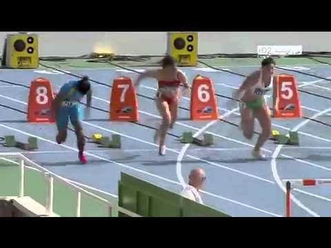 Videos Olímpicos 2012  Sexy calentamiento Michelle Jenneke en Mundial de atletismo