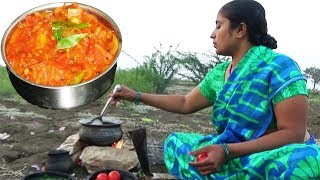 How to Cook Tomatoes Recipe – South Indian Village Style Cooking Tomato Curry Recipes