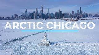 Arctic Chicago - Polar Vortex 2019 - drone footage