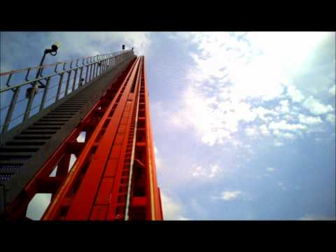 King's Dominion - Intimidator 305 Roller Coaster Front Seat POV Fun!!