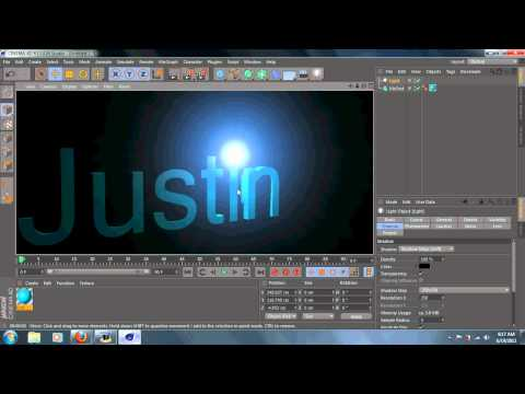 Cinema 4D R13 TUTORIAL: Letter Shining