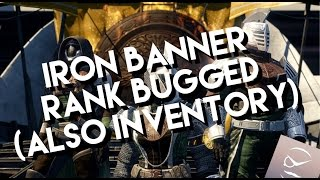 Destiny! Iron Banner Rank Is BUGGED! (Also Saladin